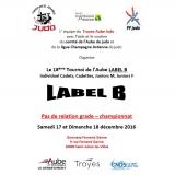 Tournoi label B Juniors de Troyes